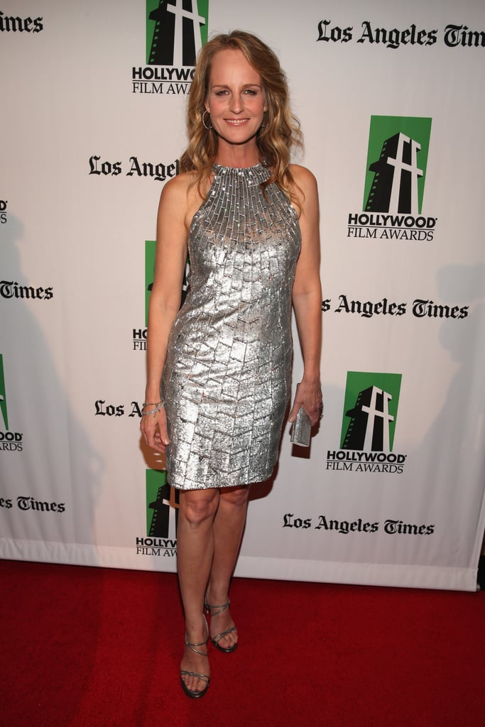 Helen Hunt chose a silver dress for the Hollywood Film Awards gala in Los Angeles.