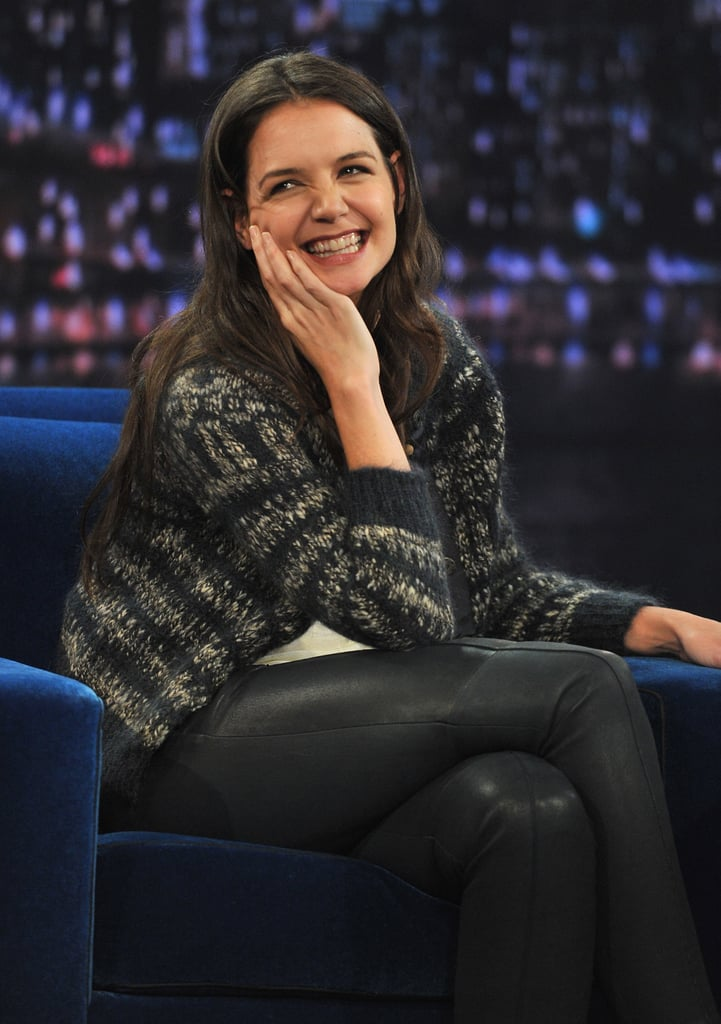 Katie Holmes made a stop at Late Night With Jimmy Fallon.