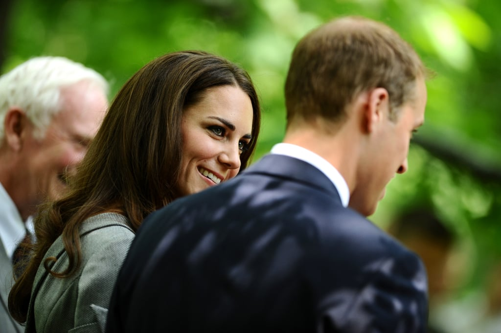 Kate gave a loving glance to her husband as they planted a symbolic tree during their 2011 visit to Canada.