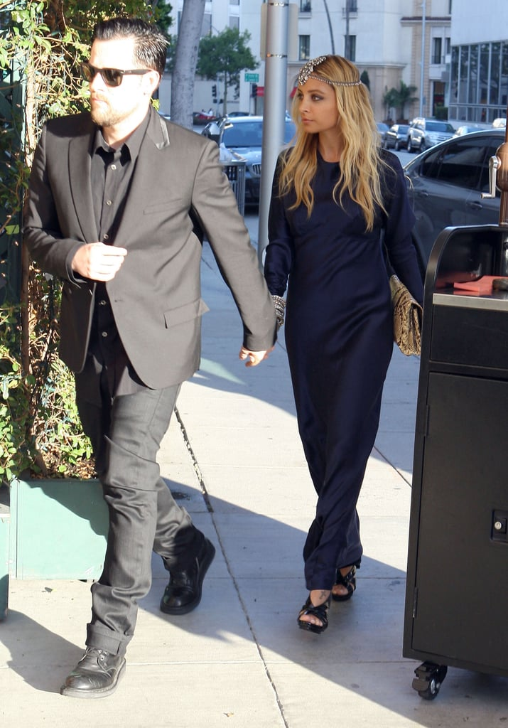 Nicole Richie and Joel Madden hold hands in LA.