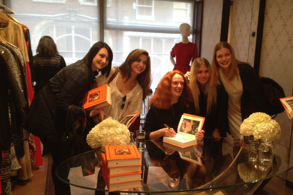 Grace at her book signing with fans in the South Molton Street Browns London store.