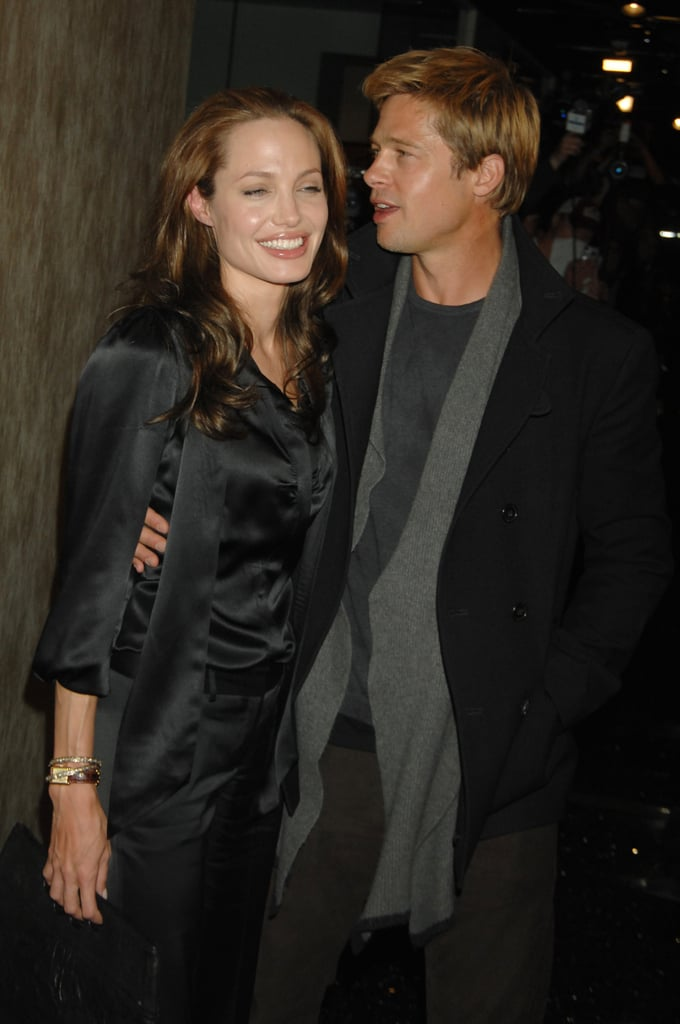 Brad Pitt joined Angelina Jolie at the January 2007 LA premiere of God Grew Tired of Us.