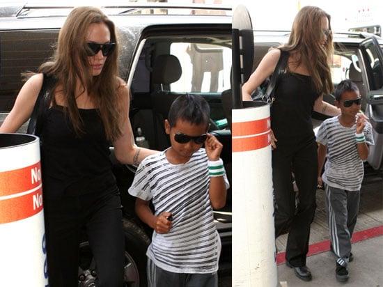 Photos of Angelina Jolie and Maddox Jolie-Pitt