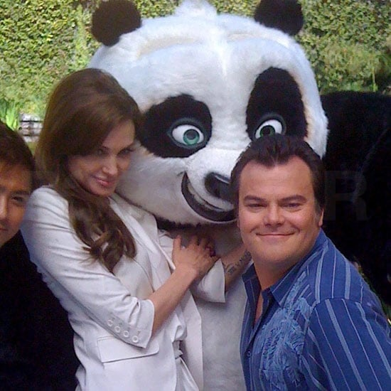 Angelina Jolie and Jack Black Kung Fu Panda 2 Pictures