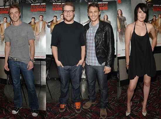 Red Carpet Photos From Pineapple Express Premiere in NYC with Seth Rogen, James Franco, Robert Buckley, Rumer Willis