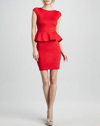Alice + Olivia Peplum Knit Dress
