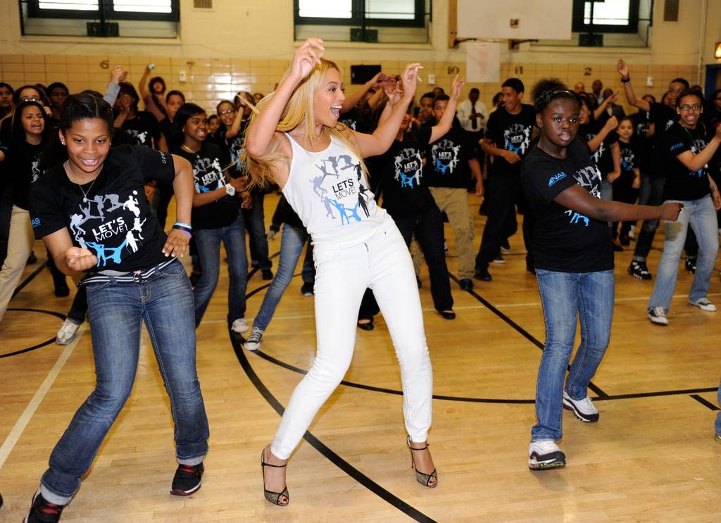 Beyoncé Surprising Students at a Public School in Harlem