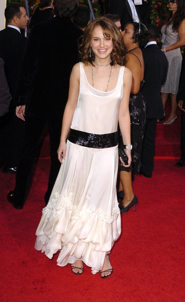 Natalie Portman in a Retro Dress at the 2005 Golden Globes