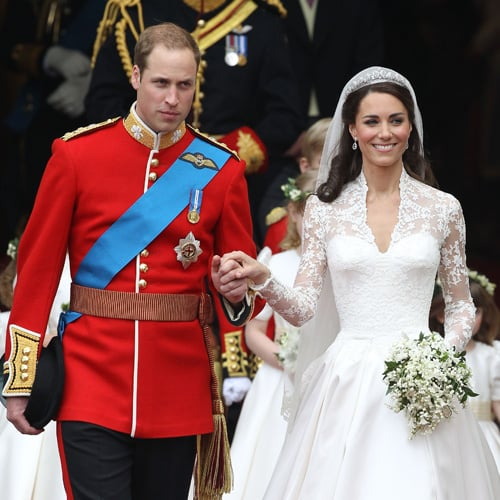 Celebs in Lace Wedding Gowns