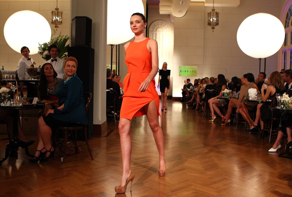 Miranda Kerr Happily Hits the Runway For David Jones With No Bikinis