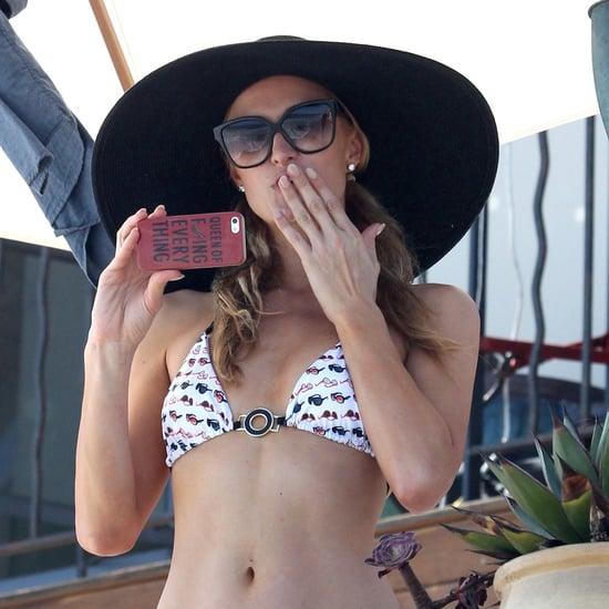 Paris Hilton in a Bikini in Malibu 2014