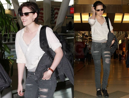 Photos of Kristen Stewart at JFK After Remember Me Premiere