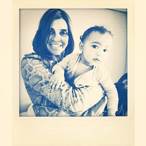 """Carine Roitfeld shared a snap of herself with North, saying, """"Baby North and her new 'nanny' Lovely little girlxxx."""""""
