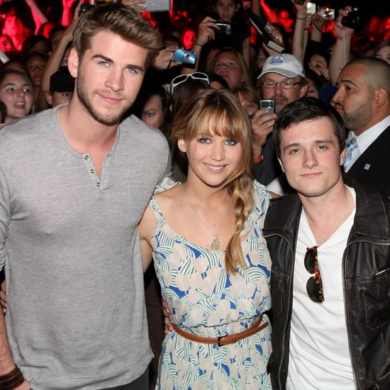 Jennifer Lawrence, Liam Hemsworth, Josh Hutcherson Pictures at Hunger Games Fan Event