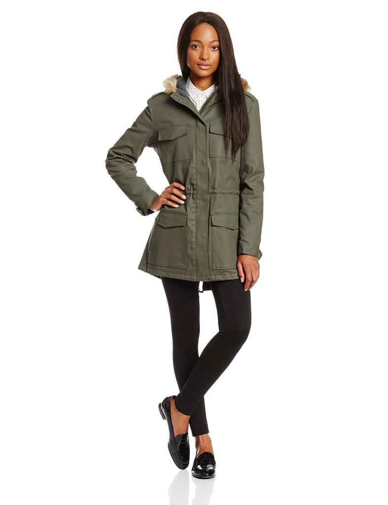 Joie Fur-Trimmed Hooded Anorak Coat