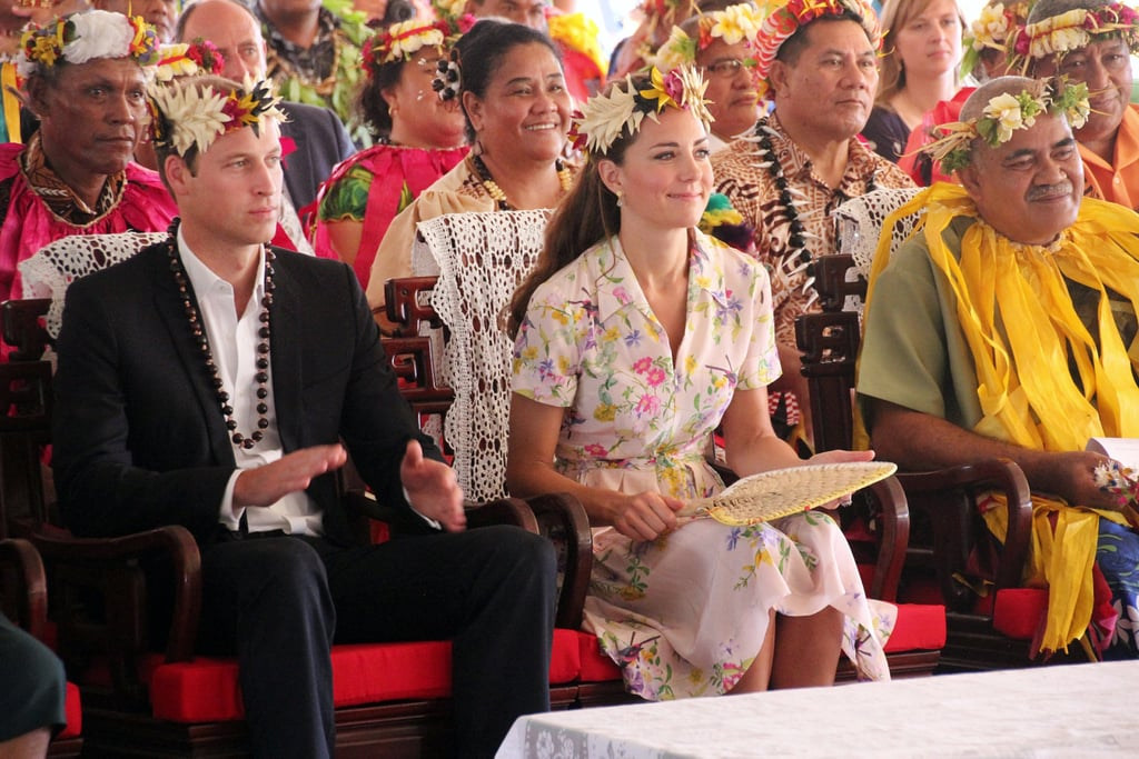 Prince William and Kate Middleton attended a goodbye ceremony in Tavalu.