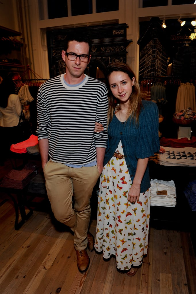 Rightor Doyle and Zoe Kazan pose for the camera.