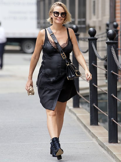 Pregnant Lara Bingle Worthington Shows Off Baby Belly in New York