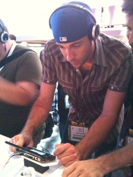 Zachary Levi at Nintendo E3 Booth