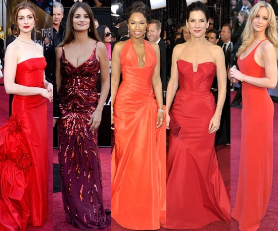 2011 Oscars: Red Gowns a Red Carpet Trend 2011-02-27 18:51:33