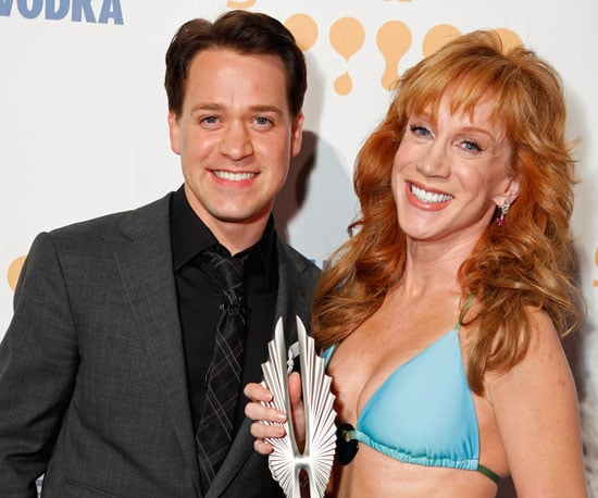 Photo of T.R. Knight and Kathy Griffin at the GLAAD Awards in LA