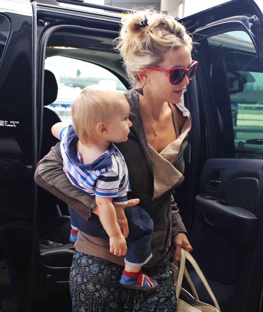 Kate Hudson arrived at the Toronto Airport with Bingham.
