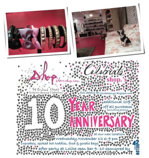 Retail Happenings: Shop Celebrates Ten Years