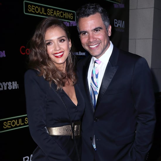 Jessica Alba and Cash Warren at Seoul Searching Premiere