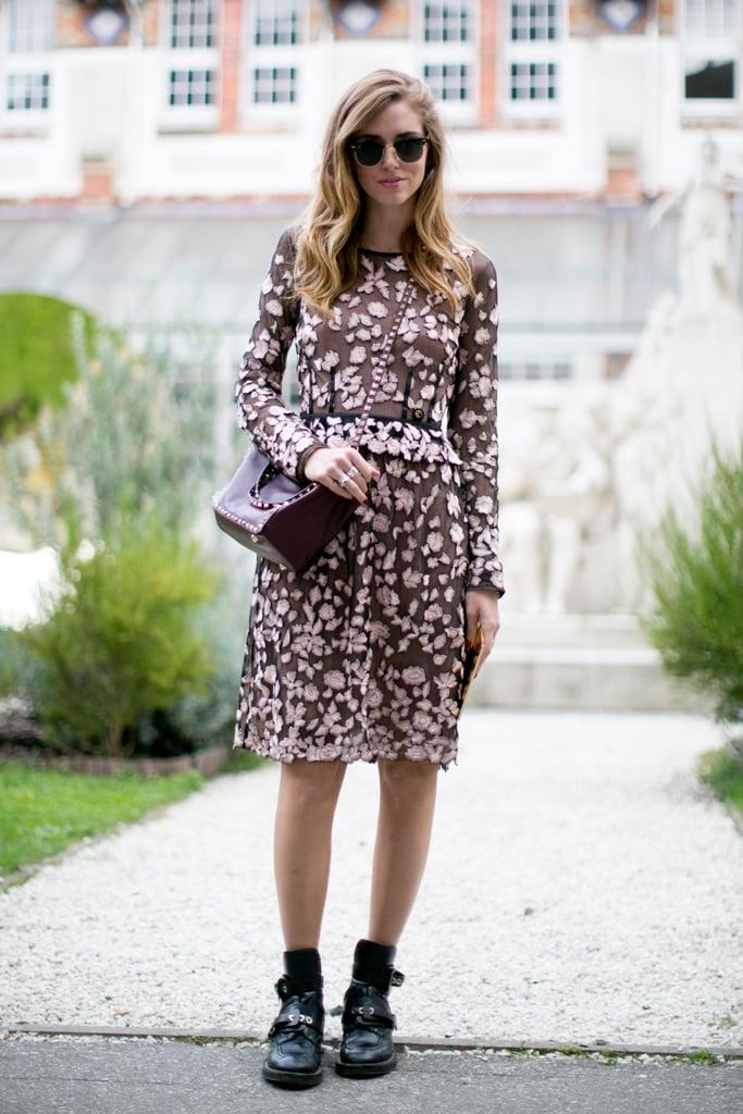 Chiara Ferragni did girlie with an irreverent twist.