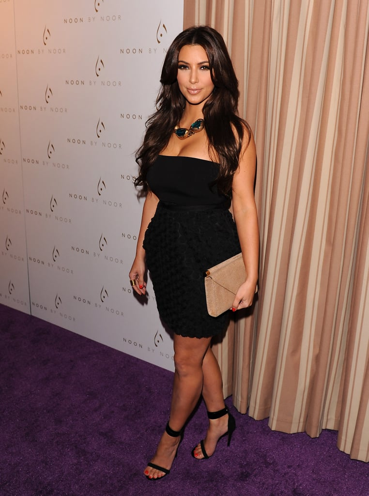 Kim Kardashian posed for photographers before the event.