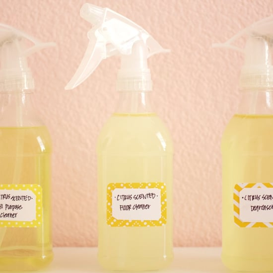 DIY Citrus-Scented Kitchen Cleaning Products