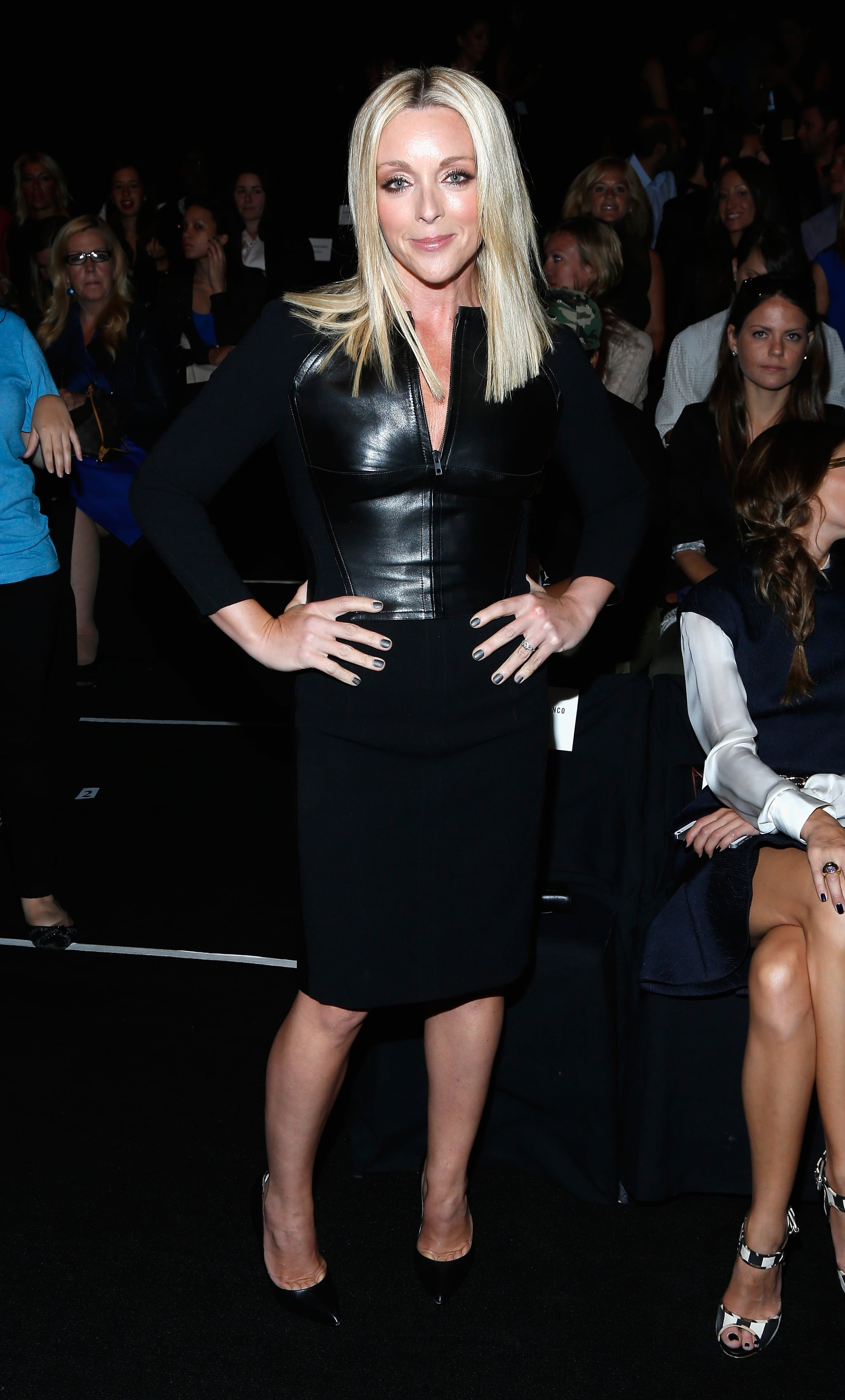 Jane Krakowski arrived at the Kaufmanfranco runway show on Monday.