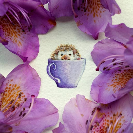 Miniature-Sized Watercolor Paintings
