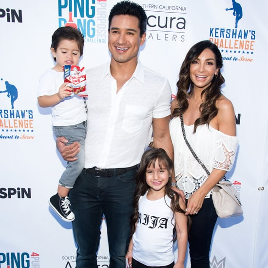 Mario Lopez and Family at Celebrity Ping-Pong Event 2016