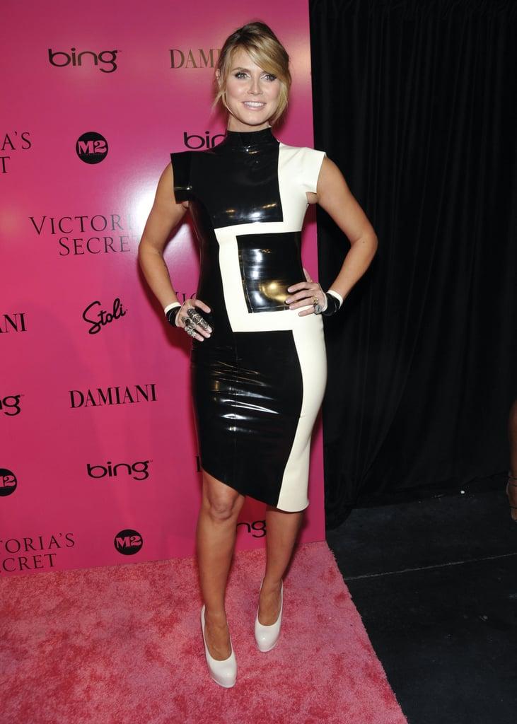 Heidi Klum in a Latex Dress at the 2009 Victoria's Secret Fashion Show