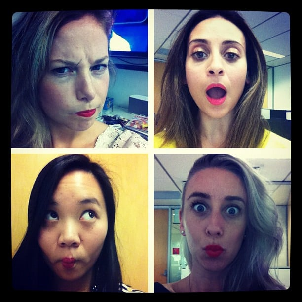 Forget The Brady Bunch... we all tried Ulta3's latest lippy offerings. So bright, so cute!
