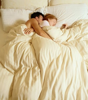 Men Sleep Well Next to Their Lovers