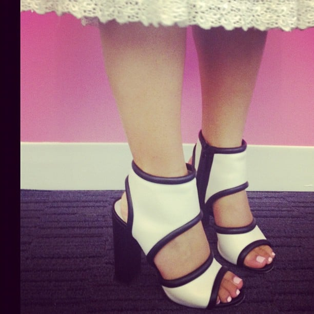 Associate Editor Chi Chau's Michael Kors sandals were a huge hit at Sugar NYC headquarters.