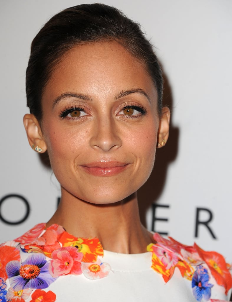 At the second annual Baby2Baby Gala, Nicole Richie opted for a demure look of neutral makeup.