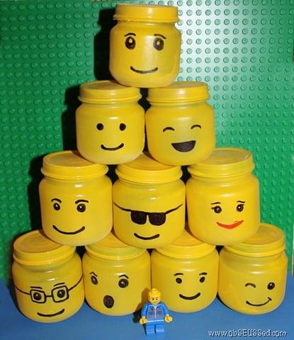 Upcycle Your Baby Food Jars Into Lego Storage Jars