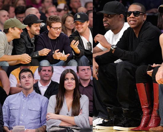 Photos of Jay-Z, Leonardo DiCaprio And Tobey Maguire at The Lakers Vs. Hornets Game; Jay-Z Ready to Have Kids With Beyonce? 2009-11-09 12:30:02