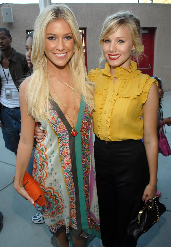 Blond bombshells Kristin Cavallari and Kristen Bell posed together at the awards in 2006.