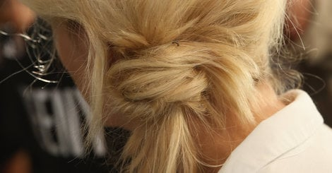 Half-Assed Chignons Are The Laziest But Coolest Fashion Week Hairstyle