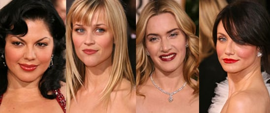 The Golden Globes Red Carpet: Bold Lips