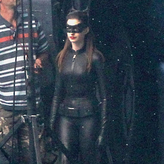 Anne Hathaway Dark Knight Rises: Anne Hathaway In A Catwoman Costume On Set Of Dark Knight