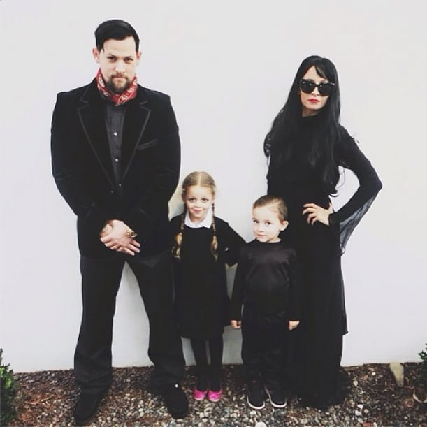 Nicole Richie and her family dressed up in Adams Family costumes for Halloween. Source: Instagram user nicolerichie