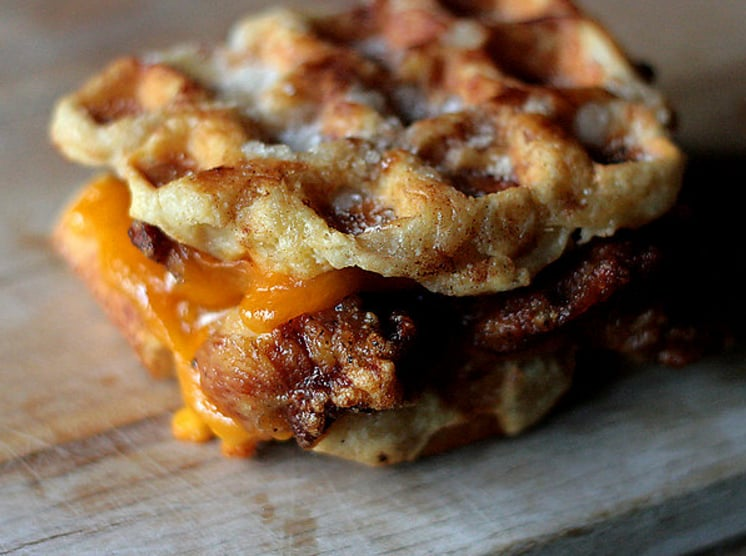 Fried Chicken and Waffle Grilled Cheese