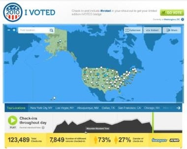 Foursquare Voting Badge