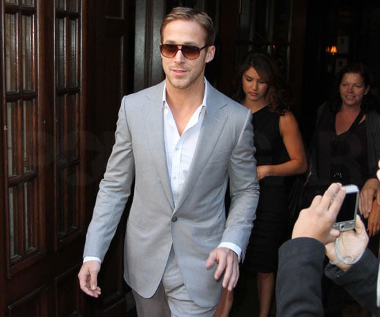 Slide Picture of Ryan Gosling Leaving Toronto Hotel