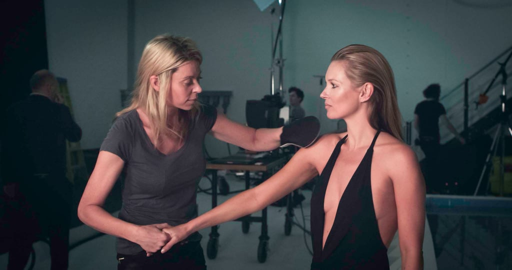 Kate Moss prepared for her St. Tropez shoot.